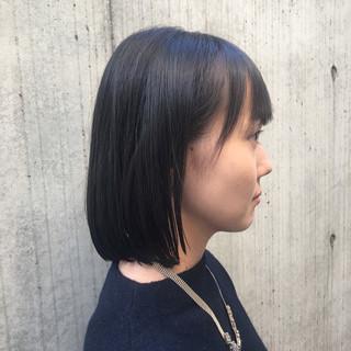 黒髪 ロブ 大人かわいい オフィス ヘアスタイルや髪型の写真・画像