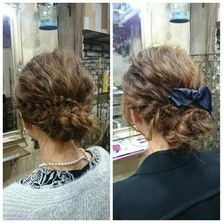 外国人風 ヘアアレンジ ハーフアップ ショート ヘアスタイルや髪型の写真・画像