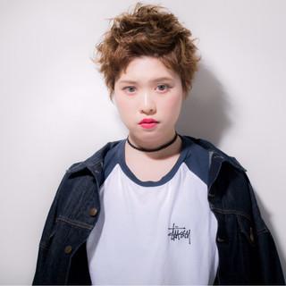 外国人風 前髪あり ショート モード ヘアスタイルや髪型の写真・画像