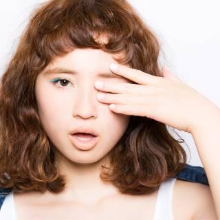 外国人風 ストレート ミディアム オン眉 ヘアスタイルや髪型の写真・画像