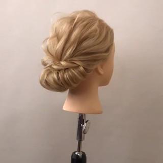 上品 ヘアアレンジ ミディアム 簡単ヘアアレンジ ヘアスタイルや髪型の写真・画像 ヘアスタイルや髪型の写真・画像