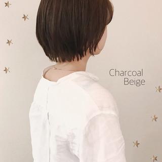 ナチュラル ショート ゆるナチュラル ヘアスタイルや髪型の写真・画像