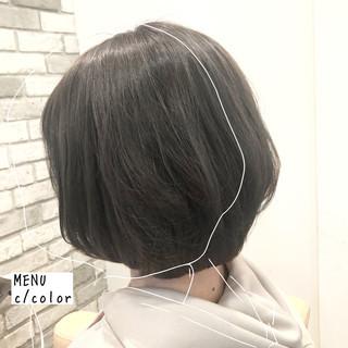 ナチュラル ボブ ストレート 前髪 ヘアスタイルや髪型の写真・画像