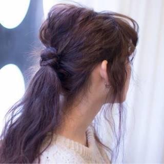 ヘアアレンジ ルーズ ストリート フェミニン ヘアスタイルや髪型の写真・画像 ヘアスタイルや髪型の写真・画像
