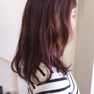 大人かわいい フェミニン ゆるふわ ピンク ヘアスタイルや髪型の写真・画像