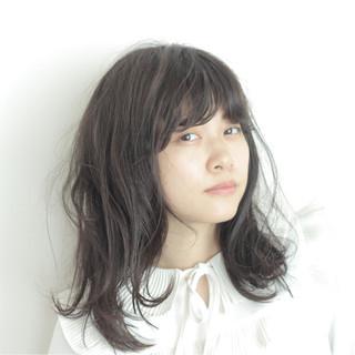 暗髪 大人かわいい ミディアム 外国人風 ヘアスタイルや髪型の写真・画像