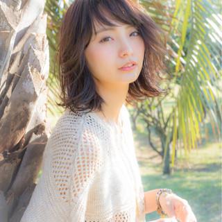 大人女子 大人かわいい ミディアム 外国人風 ヘアスタイルや髪型の写真・画像