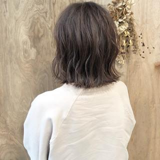 ショートボブ ボブ インナーカラー ナチュラル ヘアスタイルや髪型の写真・画像