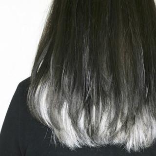 ホワイトブリーチ ホワイト インナーカラーホワイト ホワイトカラー ヘアスタイルや髪型の写真・画像 ヘアスタイルや髪型の写真・画像