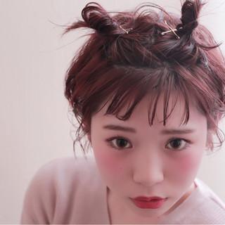 ボブ ヘアアレンジ フェミニン ハーフアップ ヘアスタイルや髪型の写真・画像 ヘアスタイルや髪型の写真・画像