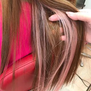 ロング エクステ デート ガーリー ヘアスタイルや髪型の写真・画像