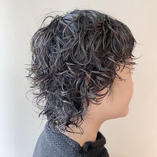 ショート パーマ ストリート ベリーショート ヘアスタイルや髪型の写真・画像