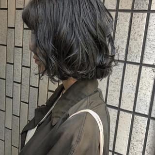 ナチュラル ブルージュ 黒髪 ボブ ヘアスタイルや髪型の写真・画像