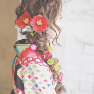 花 ヘアアレンジ ロング 簡単ヘアアレンジ ヘアスタイルや髪型の写真・画像 ヘアスタイルや髪型の写真・画像
