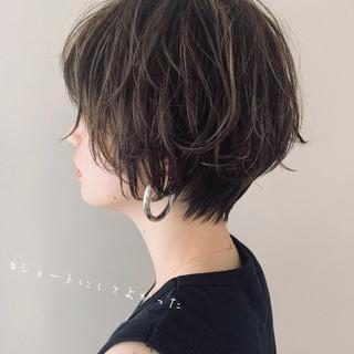 ショートヘア ミニボブ モテボブ ショート ヘアスタイルや髪型の写真・画像