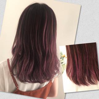 ローライト 冬 秋 ハイライト ヘアスタイルや髪型の写真・画像