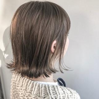 切りっぱなし ナチュラル ボブ 色気 ヘアスタイルや髪型の写真・画像