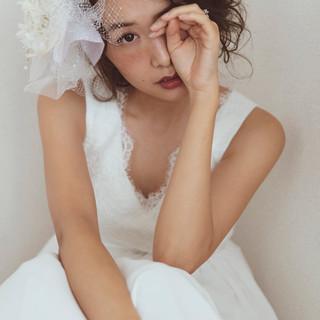 大人かわいい フェミニン ゆるナチュラル 結婚式ヘアアレンジ ヘアスタイルや髪型の写真・画像