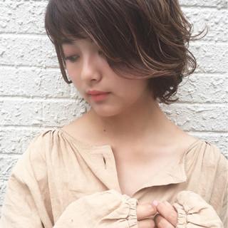ボブ 女子力 ひし形 ナチュラル ヘアスタイルや髪型の写真・画像