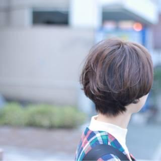 外国人風 ショート マッシュ ストリート ヘアスタイルや髪型の写真・画像