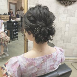 ヘアアレンジ パーティ 結婚式 成人式 ヘアスタイルや髪型の写真・画像