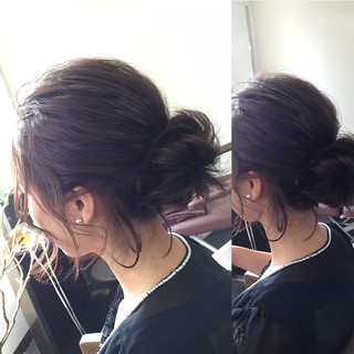 簡単ヘアアレンジ ショート メッシーバン ヘアアレンジ ヘアスタイルや髪型の写真・画像