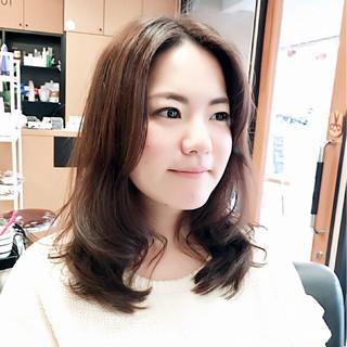 ミディアム 外国人風 大人かわいい ナチュラル ヘアスタイルや髪型の写真・画像
