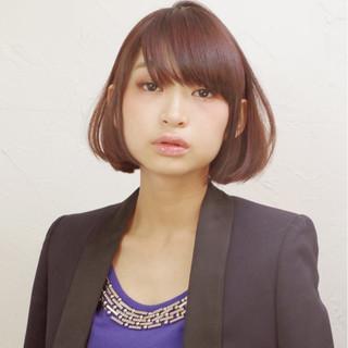 外国人風 ボブ モード 黒髪 ヘアスタイルや髪型の写真・画像