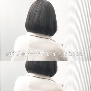ナチュラル グレージュ アッシュ 前髪 ヘアスタイルや髪型の写真・画像