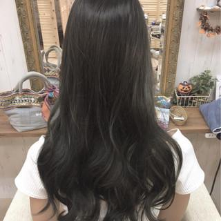 ナチュラル ロング ニュアンス 黒髪 ヘアスタイルや髪型の写真・画像