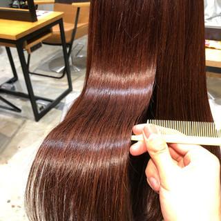 サイエンスアクア 髪質改善トリートメント ピンク ロング ヘアスタイルや髪型の写真・画像