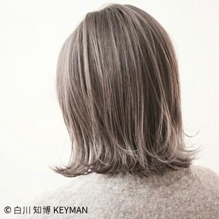 ストリート 冬 色気 ボブ ヘアスタイルや髪型の写真・画像