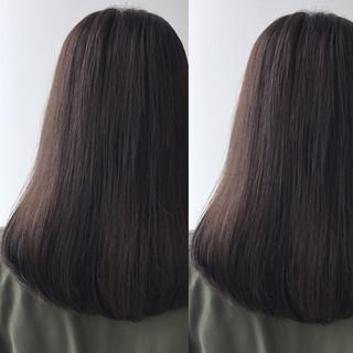 アッシュベージュ グレージュ アッシュグレージュ ロング ヘアスタイルや髪型の写真・画像