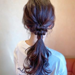 パーティ お呼ばれ ポニーテールアレンジ ロング ヘアスタイルや髪型の写真・画像