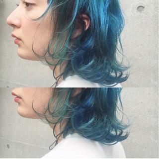ダブルカラー グラデーションカラー ブリーチ ストリート ヘアスタイルや髪型の写真・画像 ヘアスタイルや髪型の写真・画像