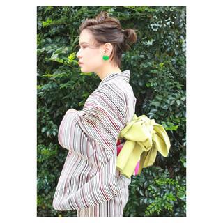 和装 ショート 夏 ヘアアレンジ ヘアスタイルや髪型の写真・画像