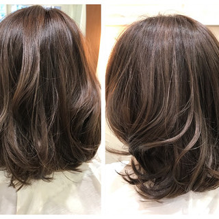 外国人風カラー グラデーションカラー ハイライト 外国人風 ヘアスタイルや髪型の写真・画像