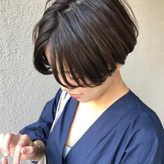 刈り上げ女子 刈り上げショート ショート ショートボブ ヘアスタイルや髪型の写真・画像