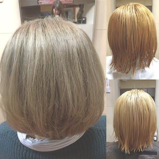 透明感 ボブ アッシュグレージュ ダブルカラー ヘアスタイルや髪型の写真・画像 ヘアスタイルや髪型の写真・画像