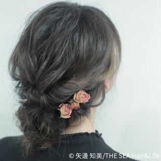 ヘアアレンジ フェミニン 結婚式 大人かわいい ヘアスタイルや髪型の写真・画像