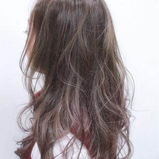 グラデーションカラー ロング フェミニン ガーリー ヘアスタイルや髪型の写真・画像