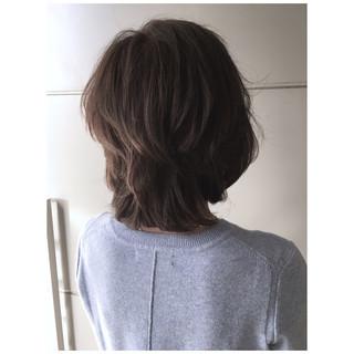 マッシュウルフ 大人かわいい 大人ミディアム ひし形 ヘアスタイルや髪型の写真・画像
