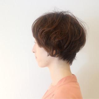 ゆるふわ ショート 外国人風 上品 ヘアスタイルや髪型の写真・画像 ヘアスタイルや髪型の写真・画像
