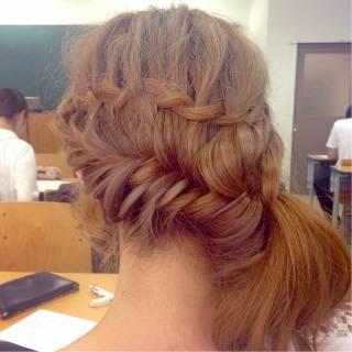 編み込み モテ髪 愛され ガーリー ヘアスタイルや髪型の写真・画像 ヘアスタイルや髪型の写真・画像