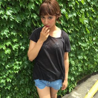 渋谷系 ショート ストリート ミディアム ヘアスタイルや髪型の写真・画像 ヘアスタイルや髪型の写真・画像