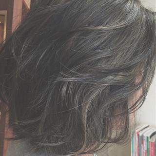 ボブ 外国人風 グラデーションカラー アッシュ ヘアスタイルや髪型の写真・画像