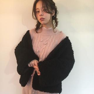 結婚式 謝恩会 ハイライト フェミニン ヘアスタイルや髪型の写真・画像