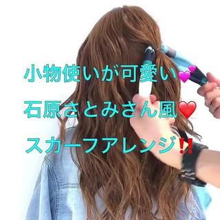 ヘアアクセ フェミニン 大人女子 ロング ヘアスタイルや髪型の写真・画像