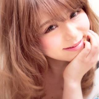 ミディアム ナチュラル モテ髪 卵型 ヘアスタイルや髪型の写真・画像