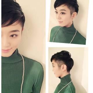 モード 黒髪 ボーイッシュ ショート ヘアスタイルや髪型の写真・画像 ヘアスタイルや髪型の写真・画像